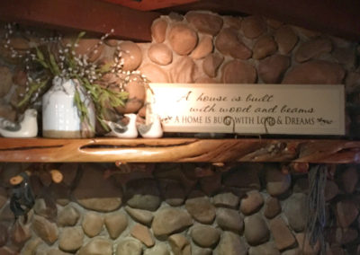 Rustic Chic Fireplace Mantle